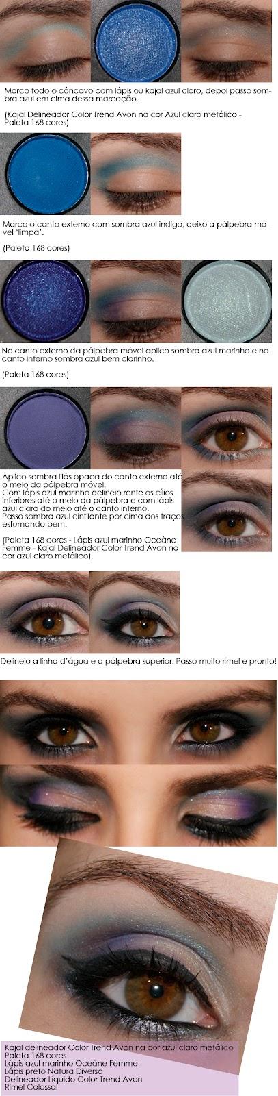 tutorial make azul e lilás!