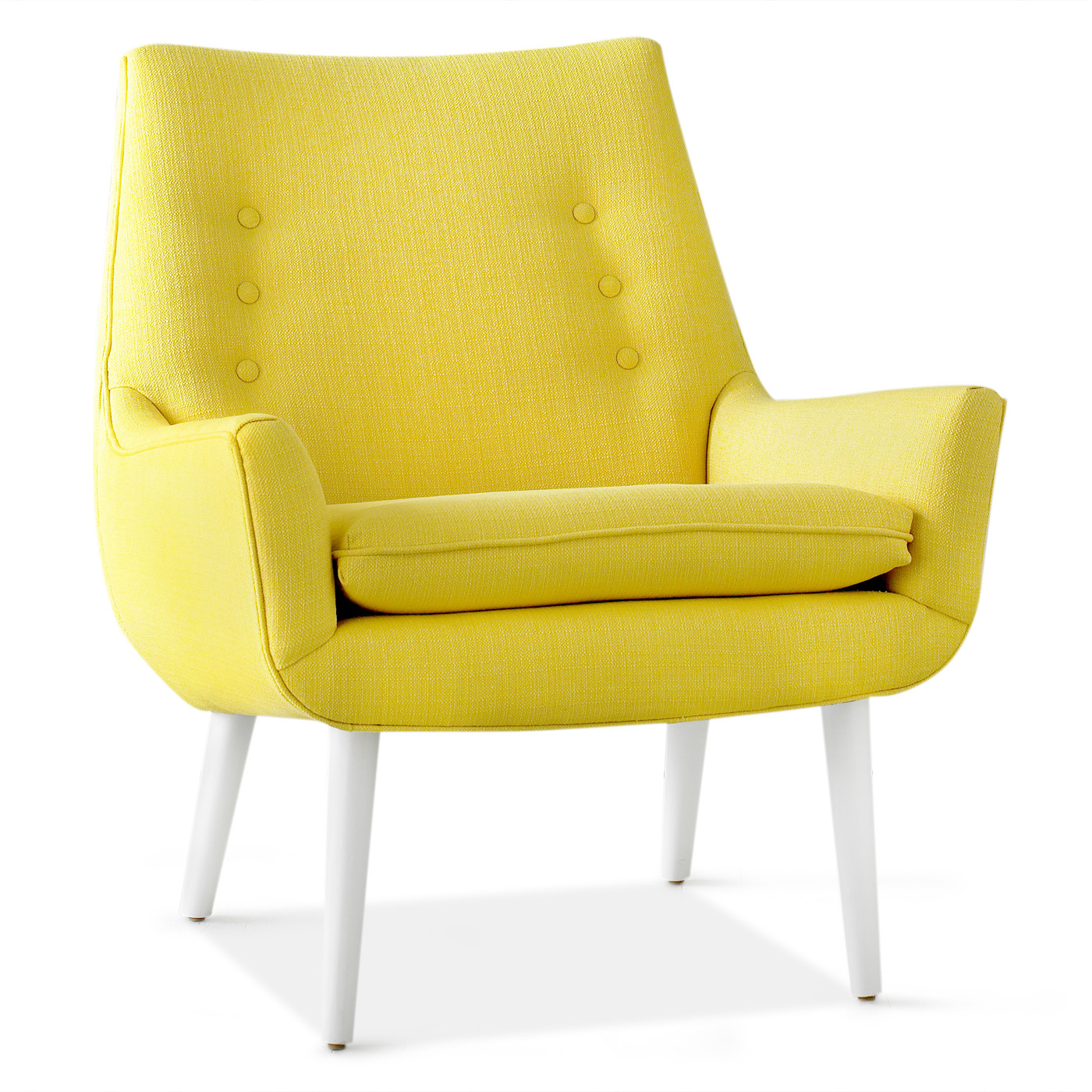 Contemporary canary colored accent chairs - Wednesday April 17 2013