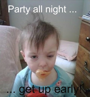 party baby funny pic