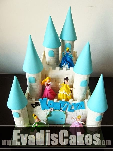 Top view picture of Penang castle cake
