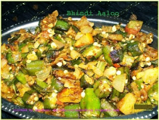 okra or ladyfinger and potatoes stir fry recipe
