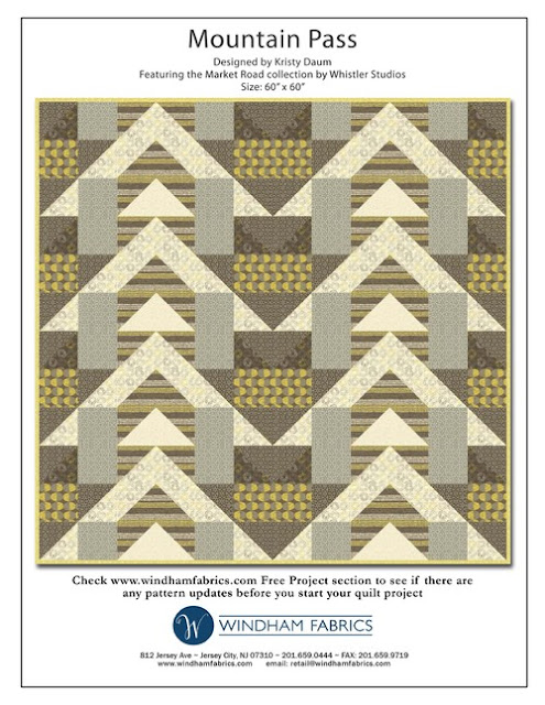 Mountain Pass // Free Quilt Pattern - Kristy Daum, St. Louis Folk Victorian