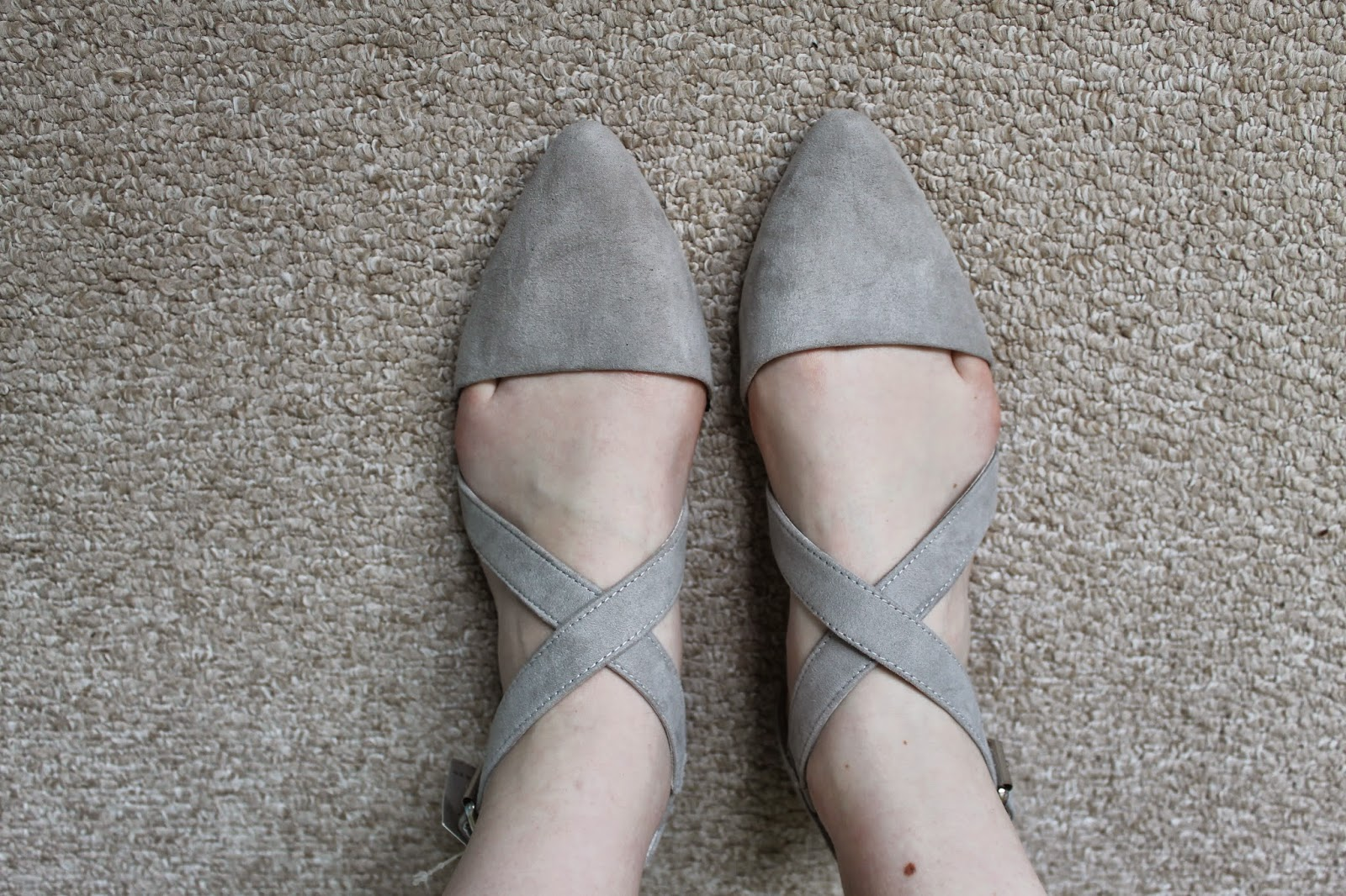 Primark Dove Grey Pointed Sandals