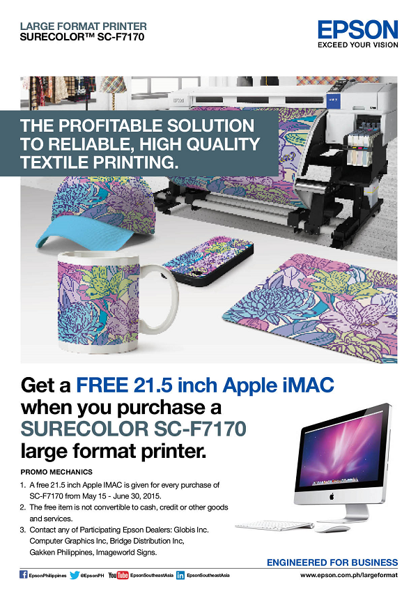 Epson FREE Apple iMac Promo