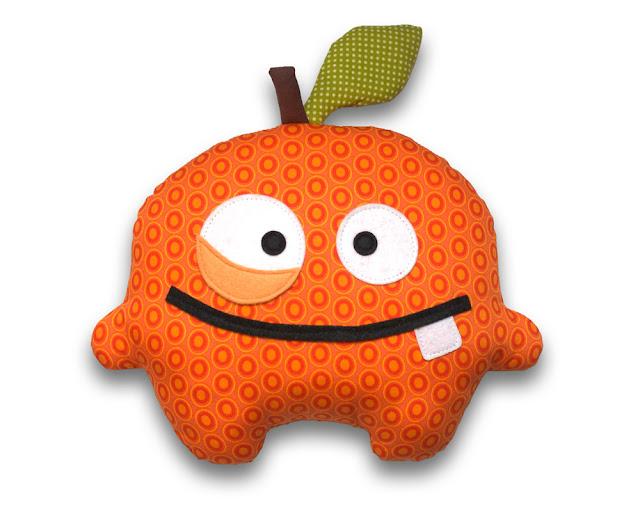 Orange stuffed food toy pattern