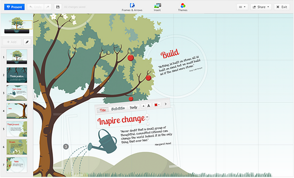 Presentation websites for students