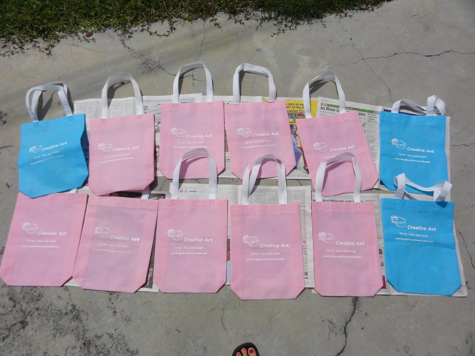 Bright Creative Art: My DIY Silk Screen Printing Bag - Bright
