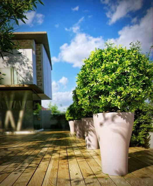 donice w nowoczesnym ogrodzie