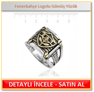 Fenerbahçe Logolu Gümüş Yüzük