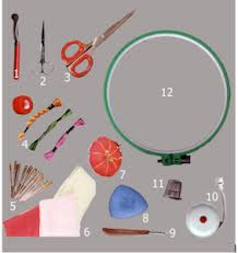 contoh Jenis alat dan bahan pembuatan sulam
