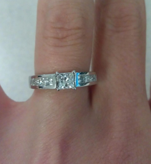 Amazing Princess Cut Diamond Ring