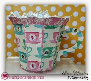 SVG Attic's Mom's English Garden Tea Cup