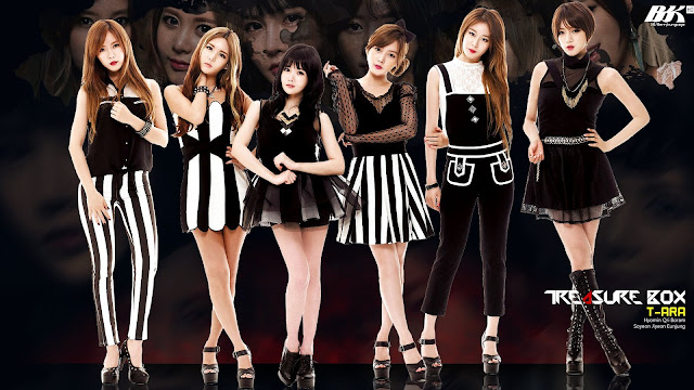Beautiful girl group T-ara