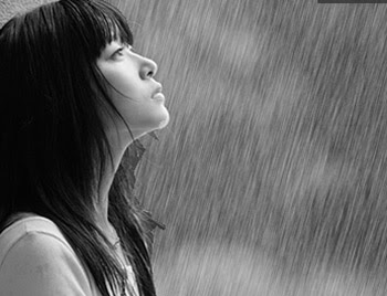 love walking in the rain cause no one can see me crying
