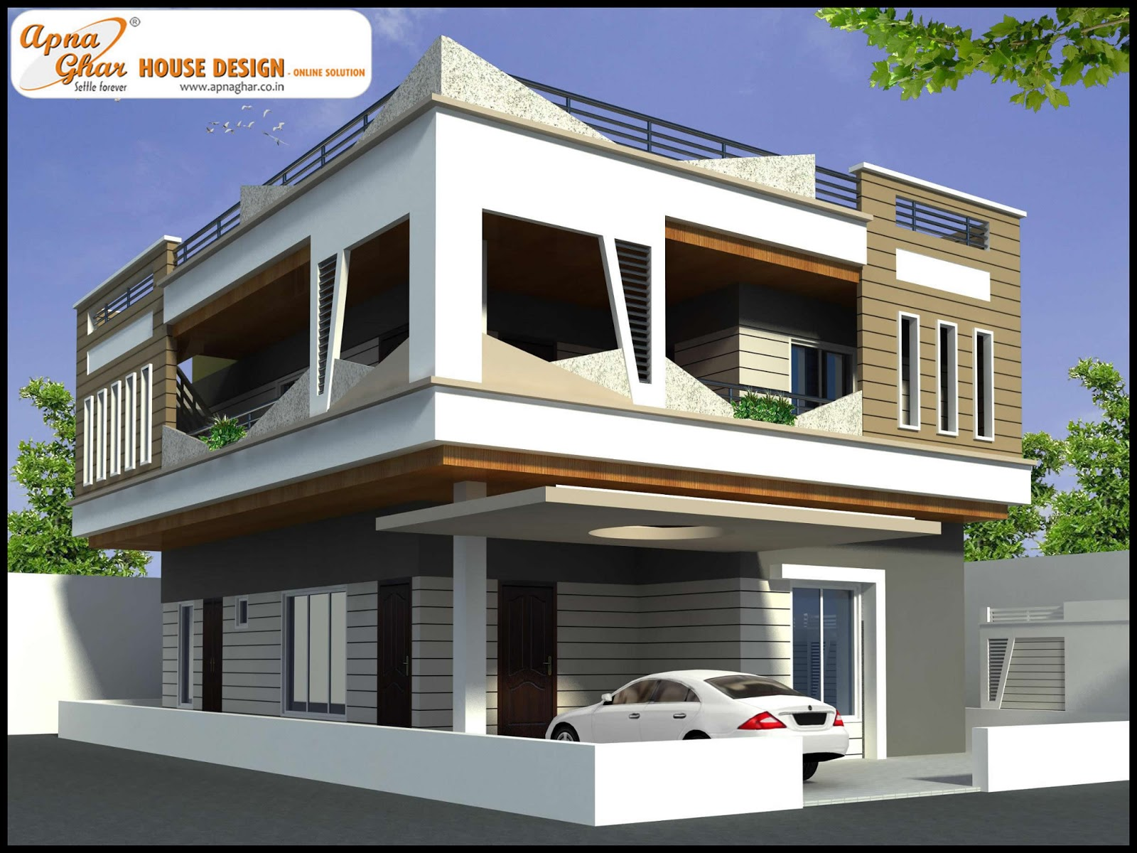 4 bedrooms duplex house design in 216m2 12m x 18m for Home designs 4 you