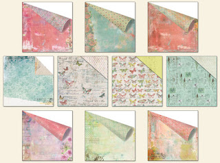 Scraps of Elegance scrapbook kits - October Kit - Tiffany's Style Patterned Paper Add On