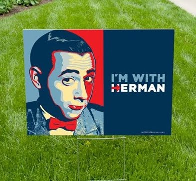 "Click the image to order your ""I'm with Herman"" sign"