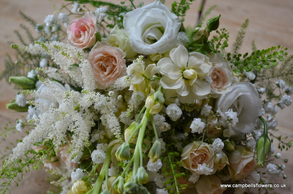 Bridesmaids bouquet natural just picked style by Campbell's Flowers in Sheffield.