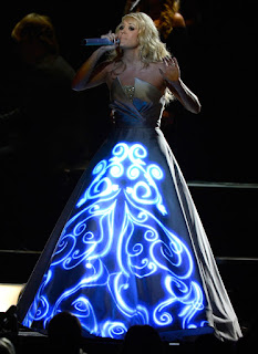 Carrie Underwood lights up... literally