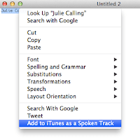 Add to iTunes as a Spoken Track