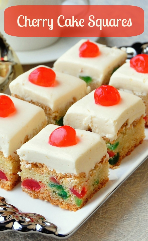 Cherry Cake Squares