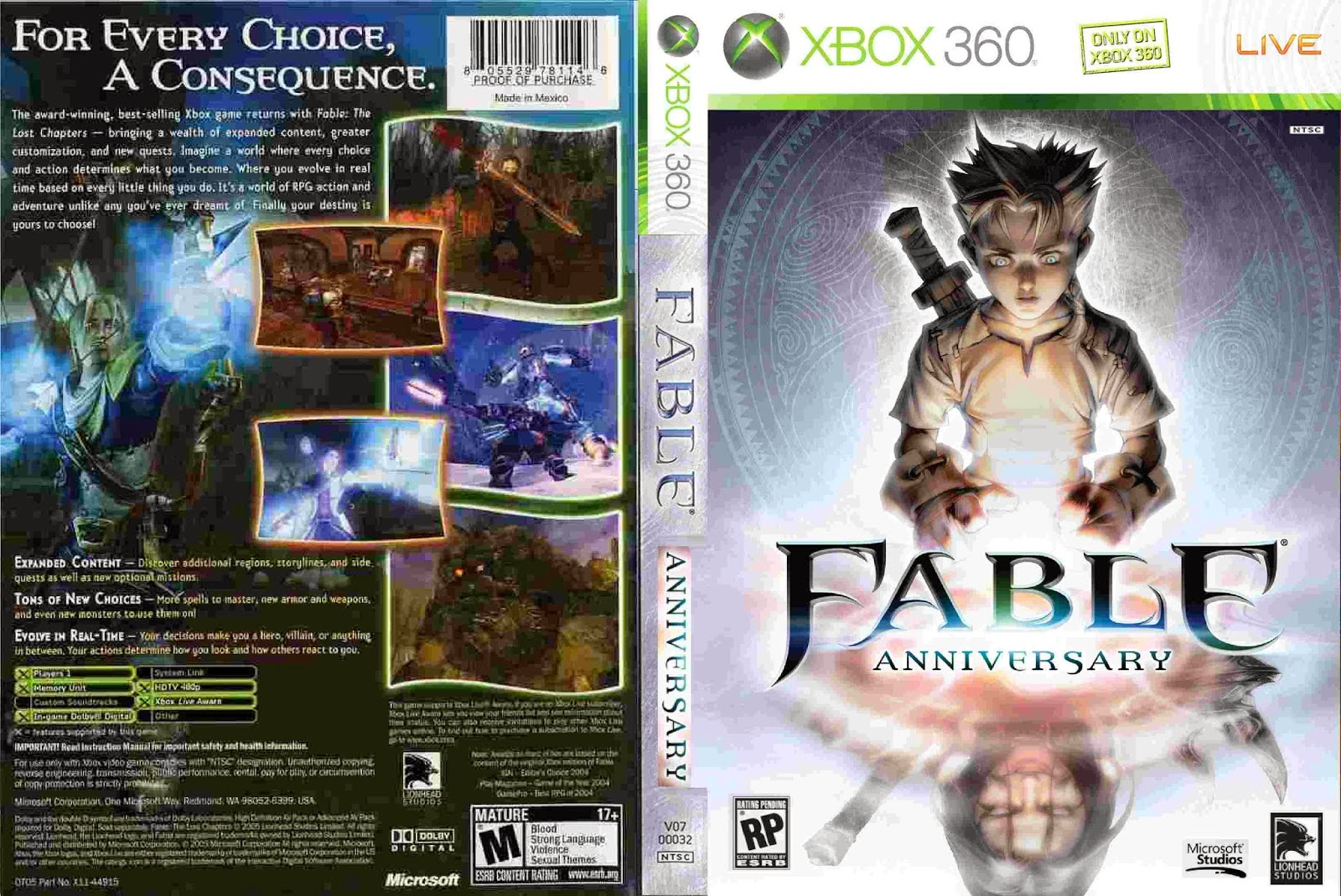 Fable Anniversary (2014) - Capa Game XBox 360
