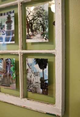 Riches to rags by dori thrift store diy yourself for Using old windows as picture frames