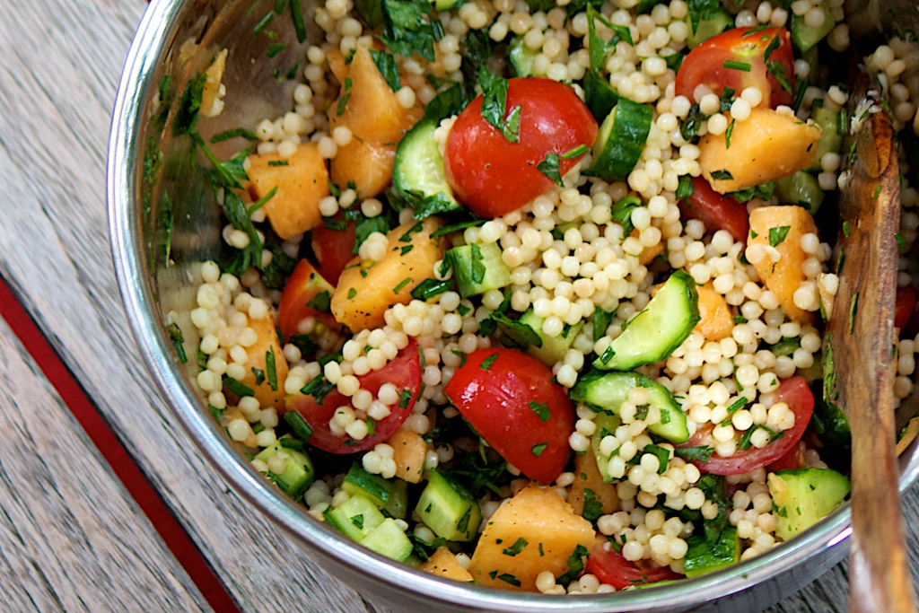 freshfromevaskitchen: Melon, Cucumber and Tomato Salad