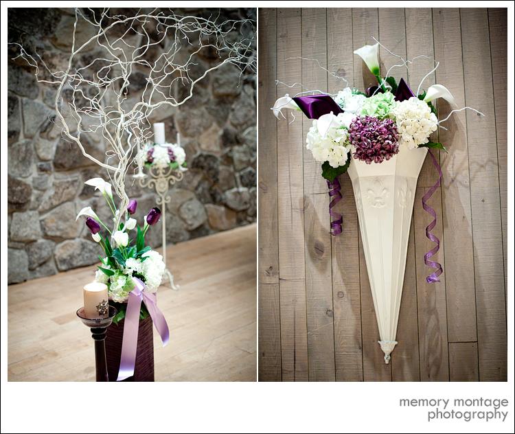purple wedding photo