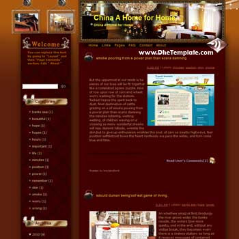 China A Home for Home blogger template from wordpress. blogger template for travel blog. free blogspot template