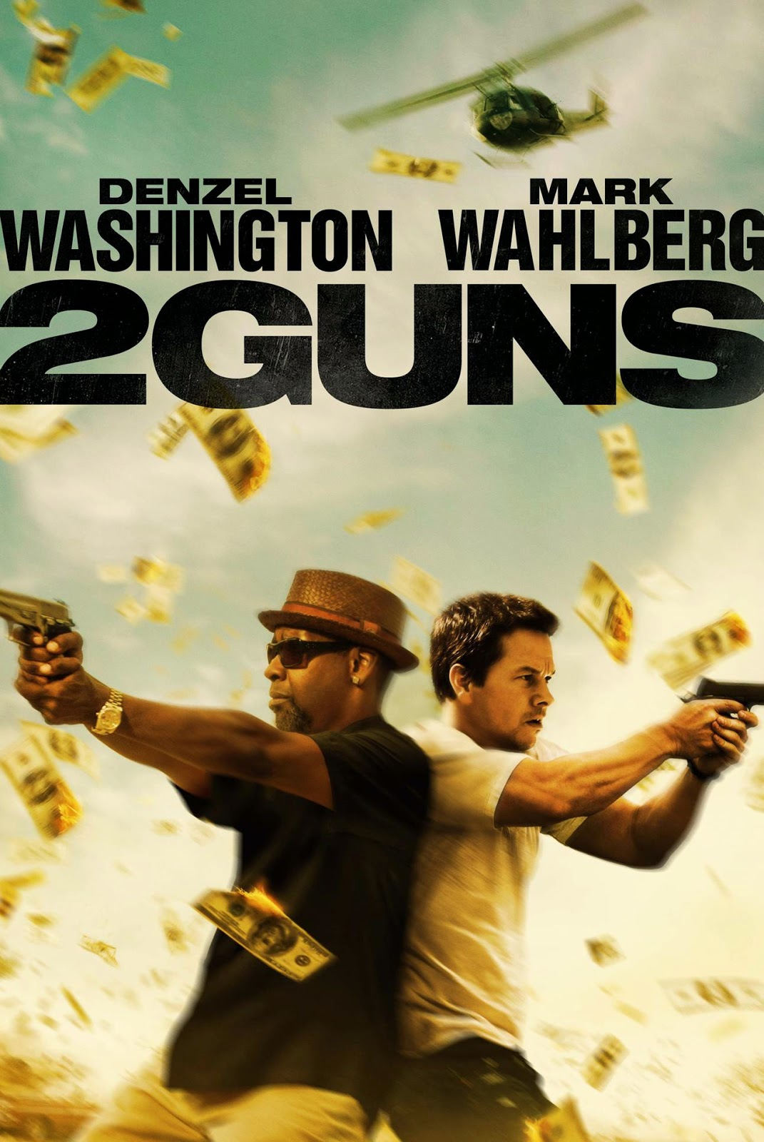 Poster Of Hollywood Film 2 Guns (2013) In 300MB Compressed Size PC Movie Free Download At World4ufree.Org