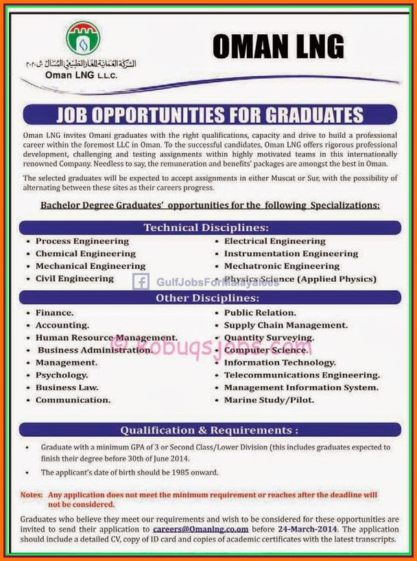 job opportunities for oman lng