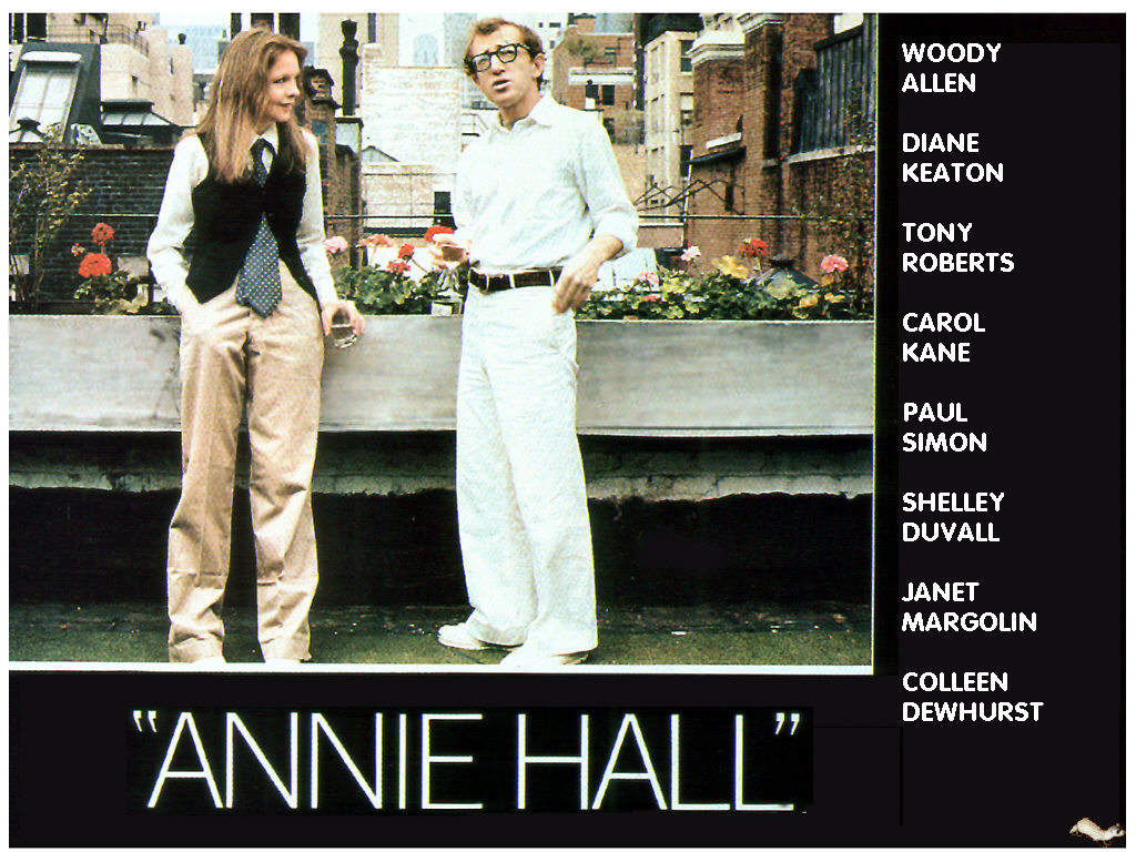 woody allens annie hall Woody allen and diane keaton in annie hall (1977) woody allen's semi-autobiographical 1977 movie is more about the ending of a love affair than its heady beginning.