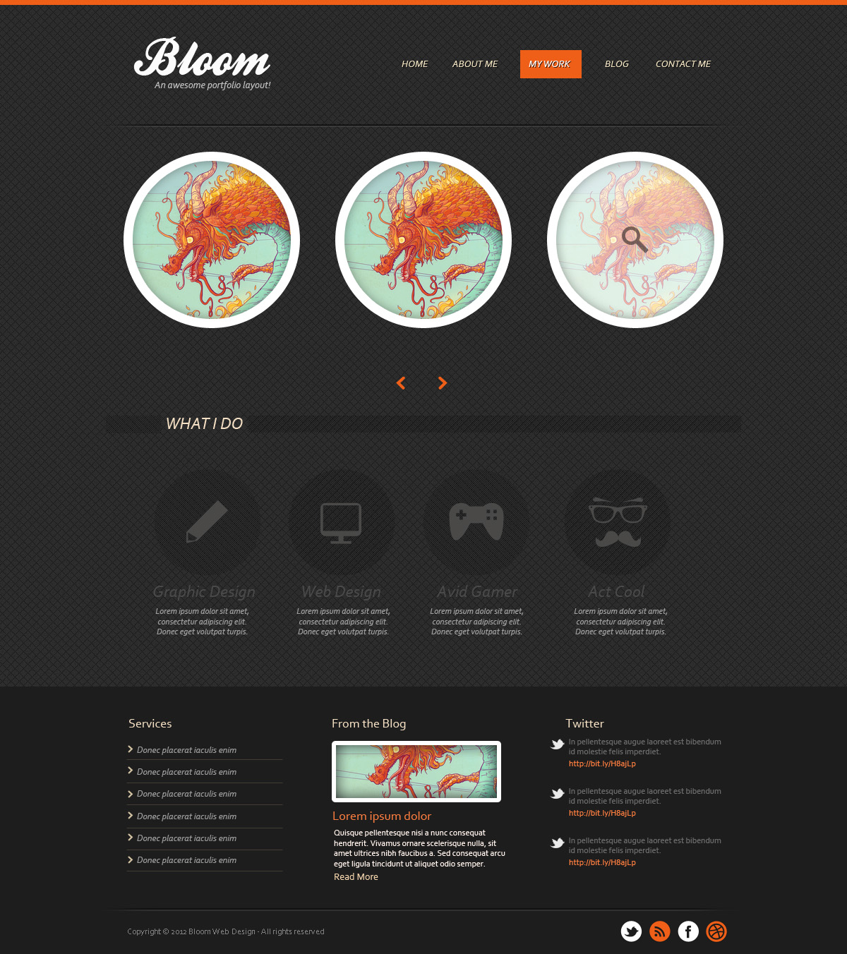 Design a dark textured portfolio template in photoshop free psd full post design a dark textured portfolio template in photoshop free psd maxwellsz