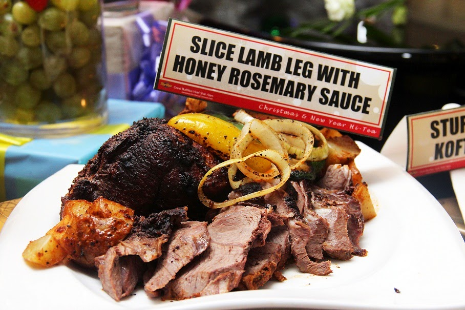 Lamb Leg marinated in Honey Rosemary Sauce