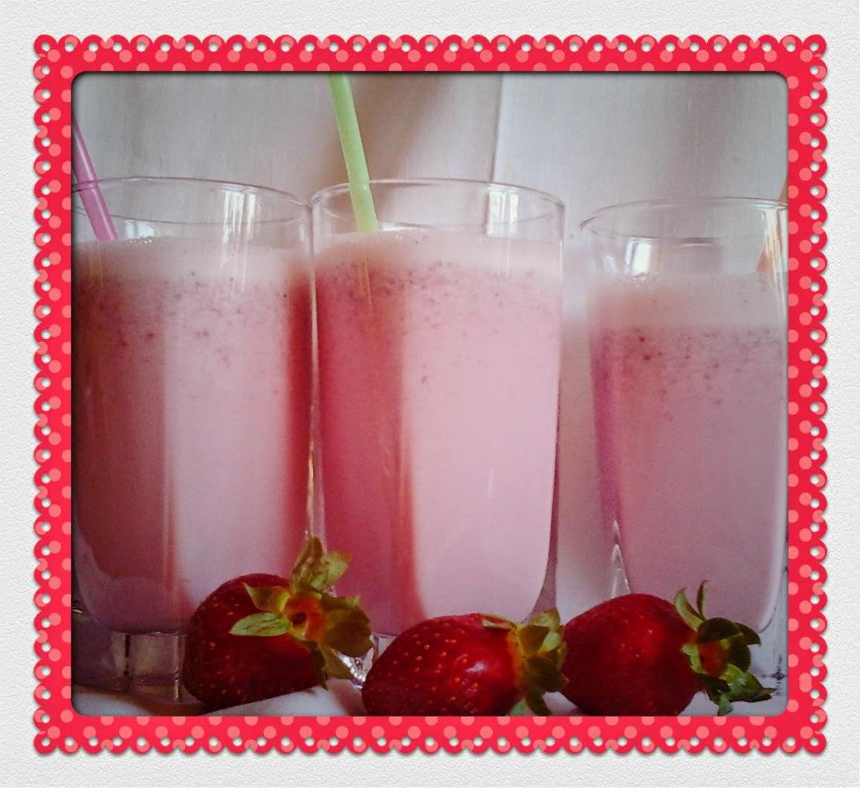 Batido De Fresas Naturales