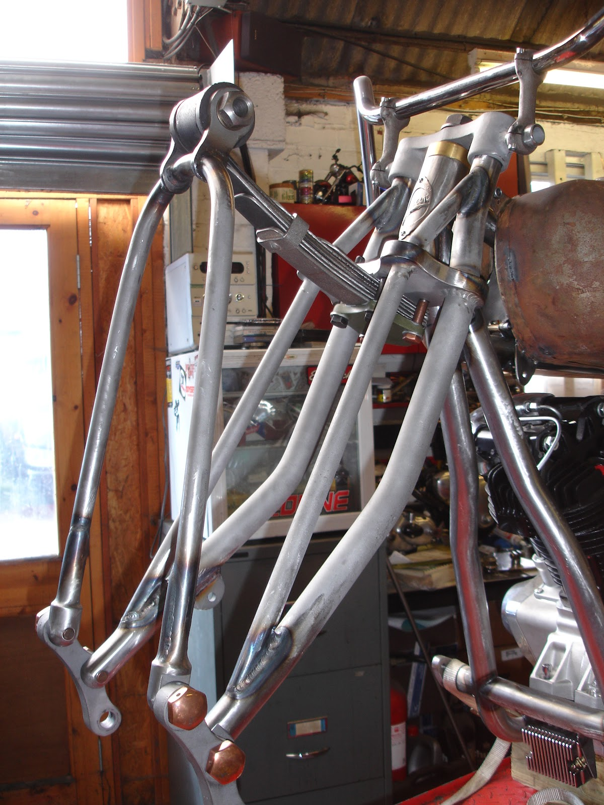 Destiny Cycles Leaf Spring Forks For Tony S Khief Project