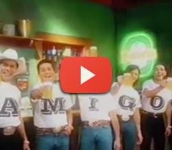 """Propaganda da Cerveja Bavaria com os Amigos. Campanha de 1997. """"Hoje é Sexta-Feira""""."""