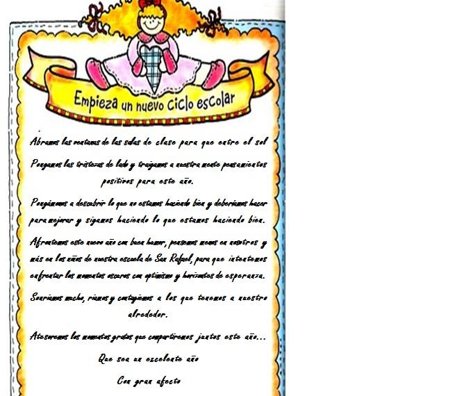 Psicoeduca mensaje de bienvenida para profesores for Cancion de bienvenida al jardin