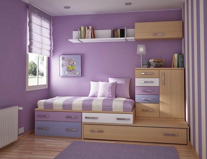 Gambar desain kamar tidur anak perempuan minimalis
