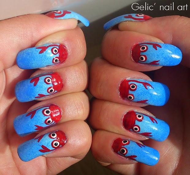 gelic' nail art crab