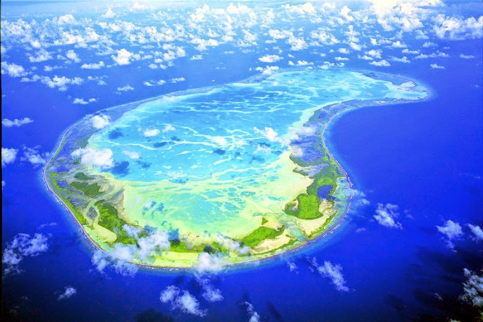 An island from the Kiribati Region