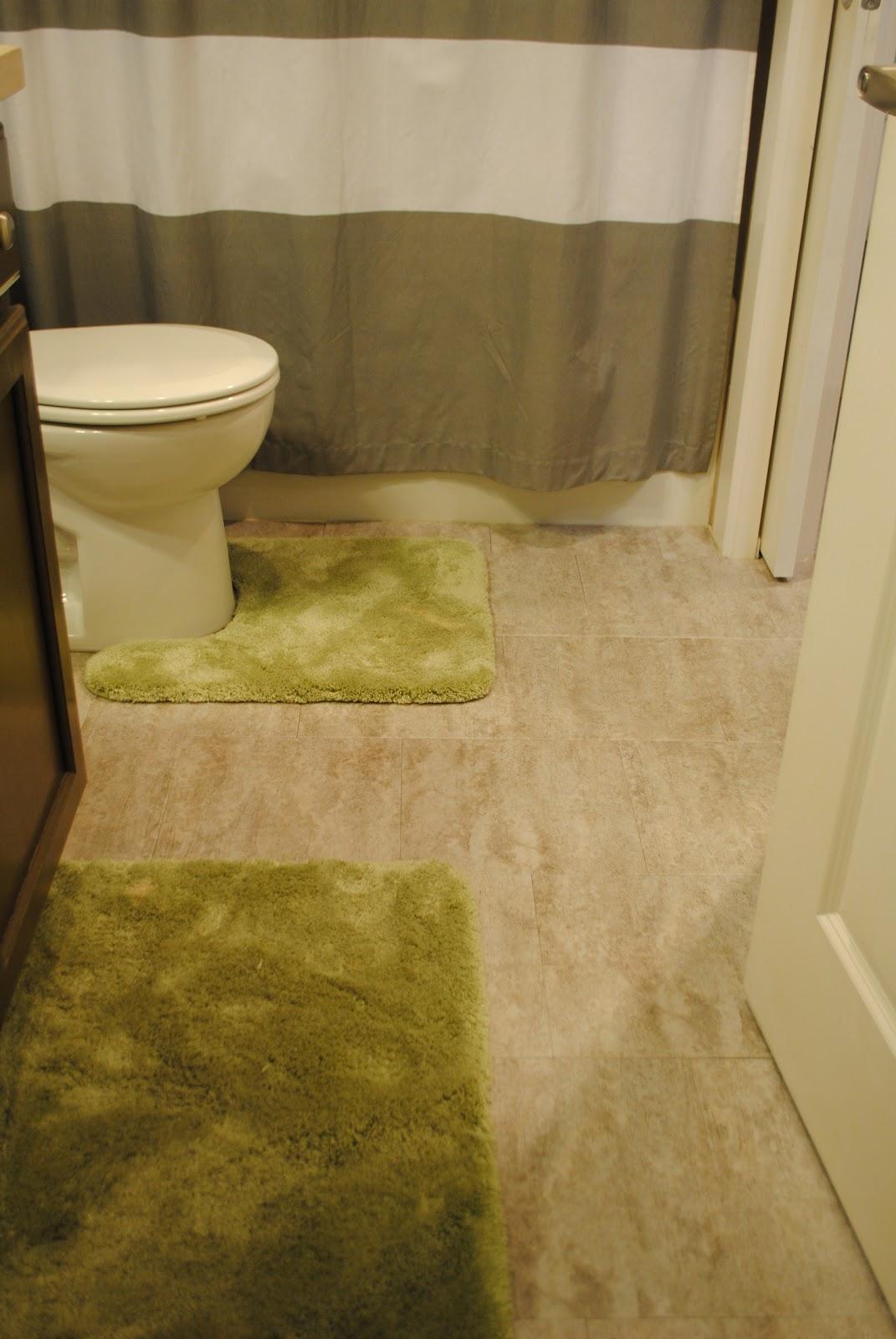 Our Emerald City Bathroom Renovation Floors