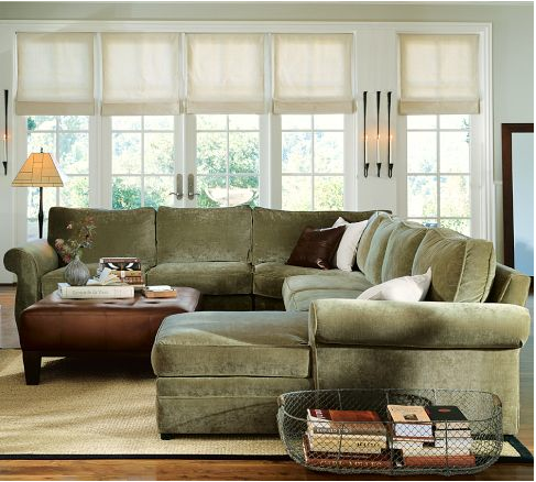 our living room sectional pottery barn pearce a review home