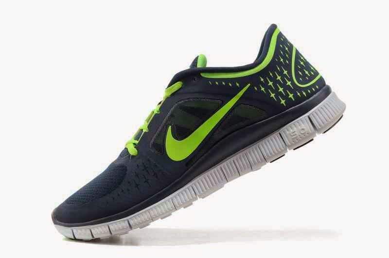 Nike Free Run   3 Men Running Shoes Blue White Size Us7 Us11  R3m