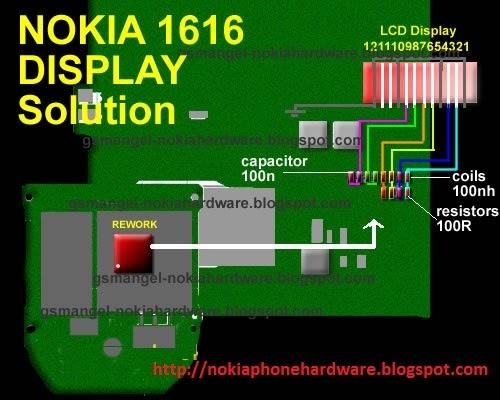 Nokia Phone Hardware  Nokia 1616 Lcd Display Jumper Ways