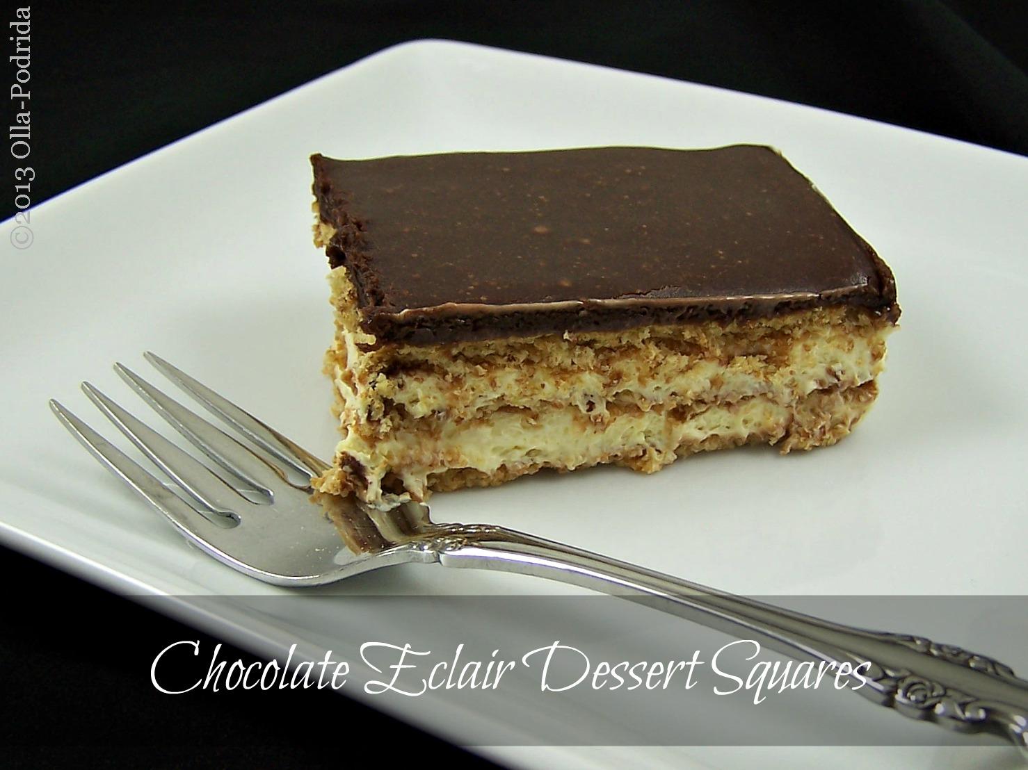 Olla-Podrida: Chocolate Éclair Dessert Squares