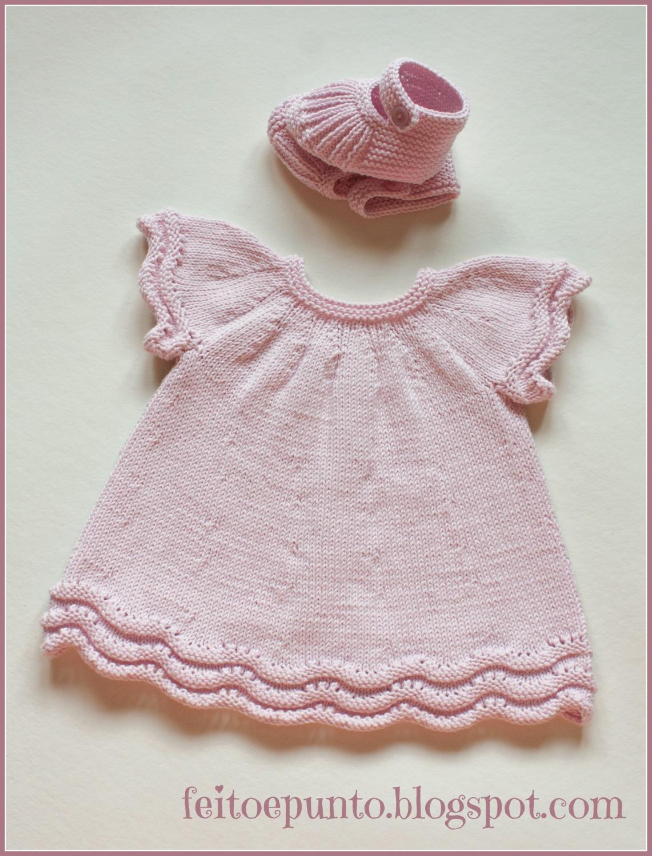 feitoepunto: Cómo se hizo... el vestido de punto en algodón rosa