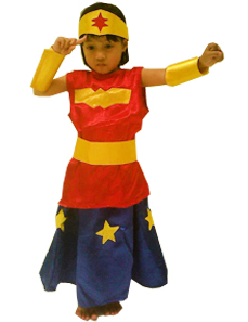 Kostum superhero wonder woman anak