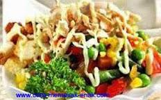 resep praktis dan mudah membuat (memasak) masakan khas belanda salad huzarensla spesial enak, gurih, lezat